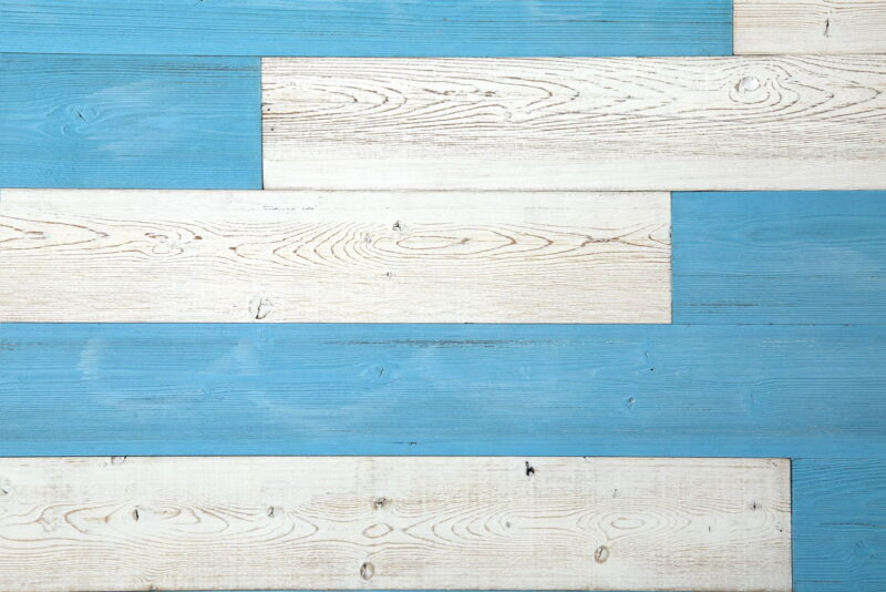 Blue Sky, White - Peel and Stick Wood Planks - WoodyWalls
