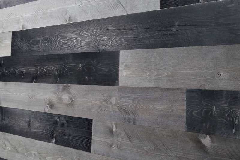 Charcoal, Gray - Peel and Stick Wood Planks - WoodyWalls