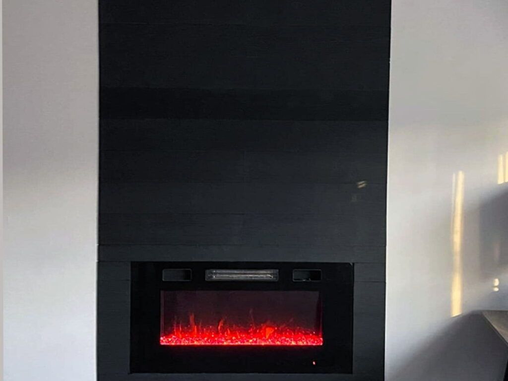 Charcoal - Peel And Stick - Fireplace