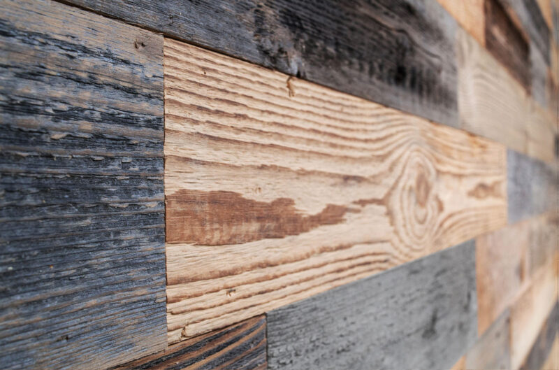 Gray Brown Mix - Reclaimed Wood Panels - WoodyWalls