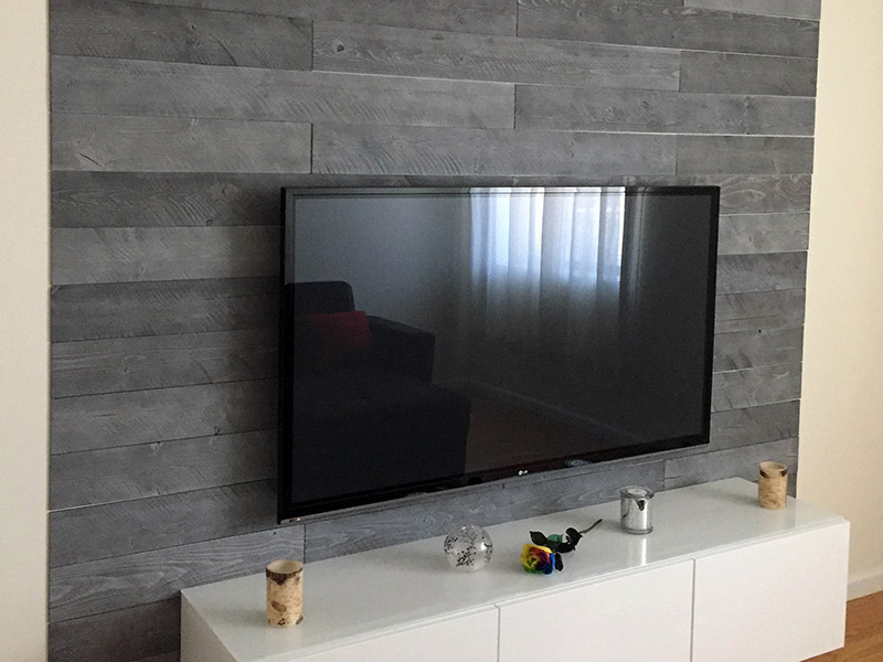 Natural Gray - Peel And Stick Wood Planks - Living Room