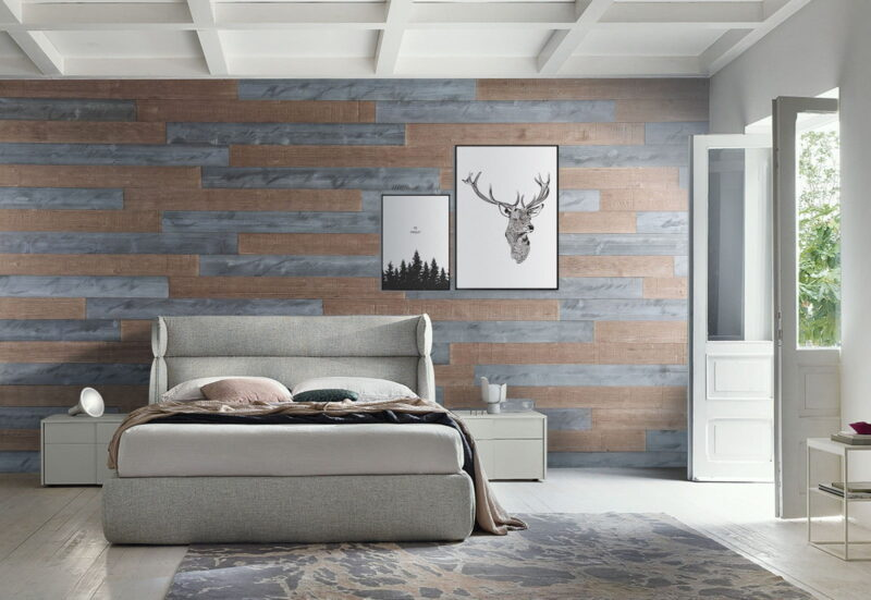 Natural Gray, Warm Sand - Peel and Stick Wood Planks - WoodyWalls
