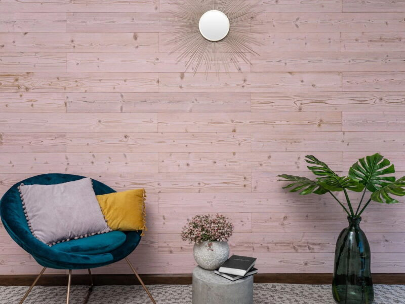 Pink Washed - Peel and Stick Planks - WoodyWalls