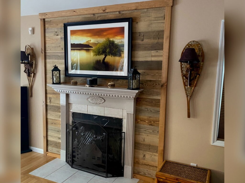 Reclaimed Wood Brown From Customers