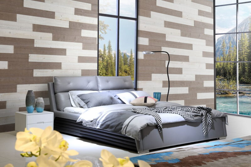 Warm Sand, White - Peel and Stick Wood Planks - WoodyWalls