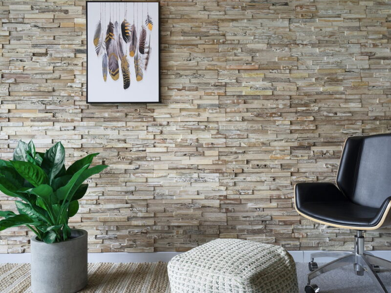 Weathered White - 3D Wall Panels | Reclaimed Wood - WoodyWalls