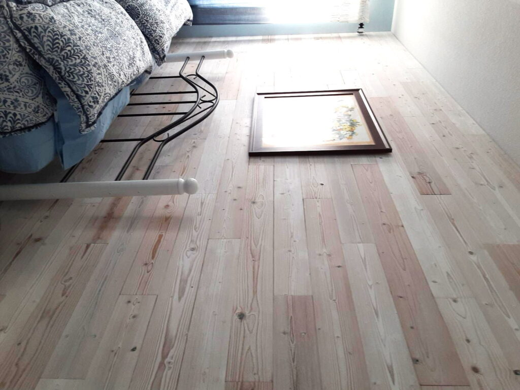 White Washed - Peel And Stick Wood Planks - Bedroom