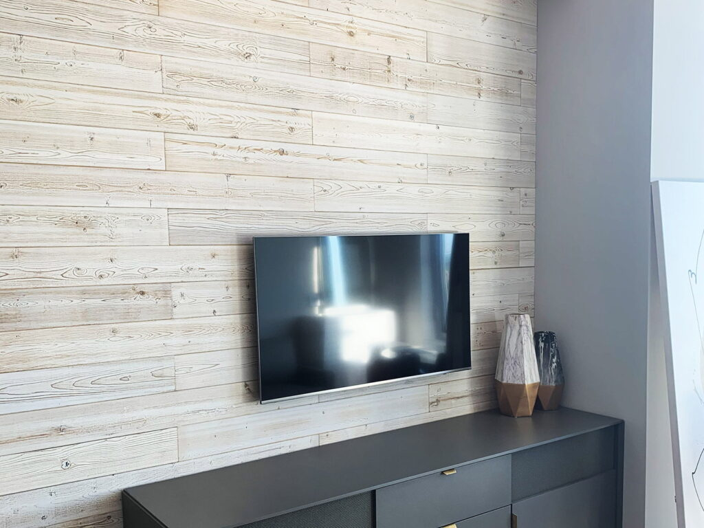 White Washed - Peel And Stick Wood Planks - Living Room